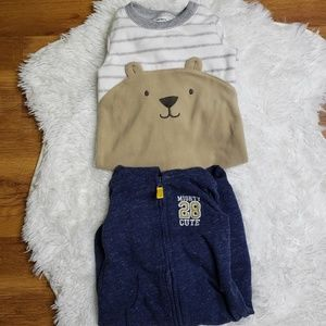 Carters 12 month long sleeve one piece bundle